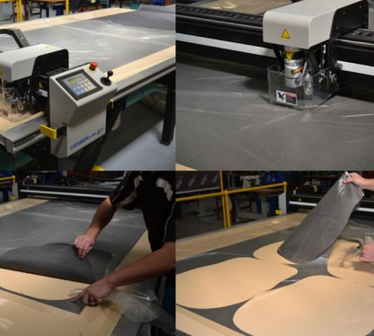 automated fabric cutting for casino seating | gaming stools