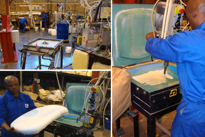 moulded foam manufacture for Karo casino chairs