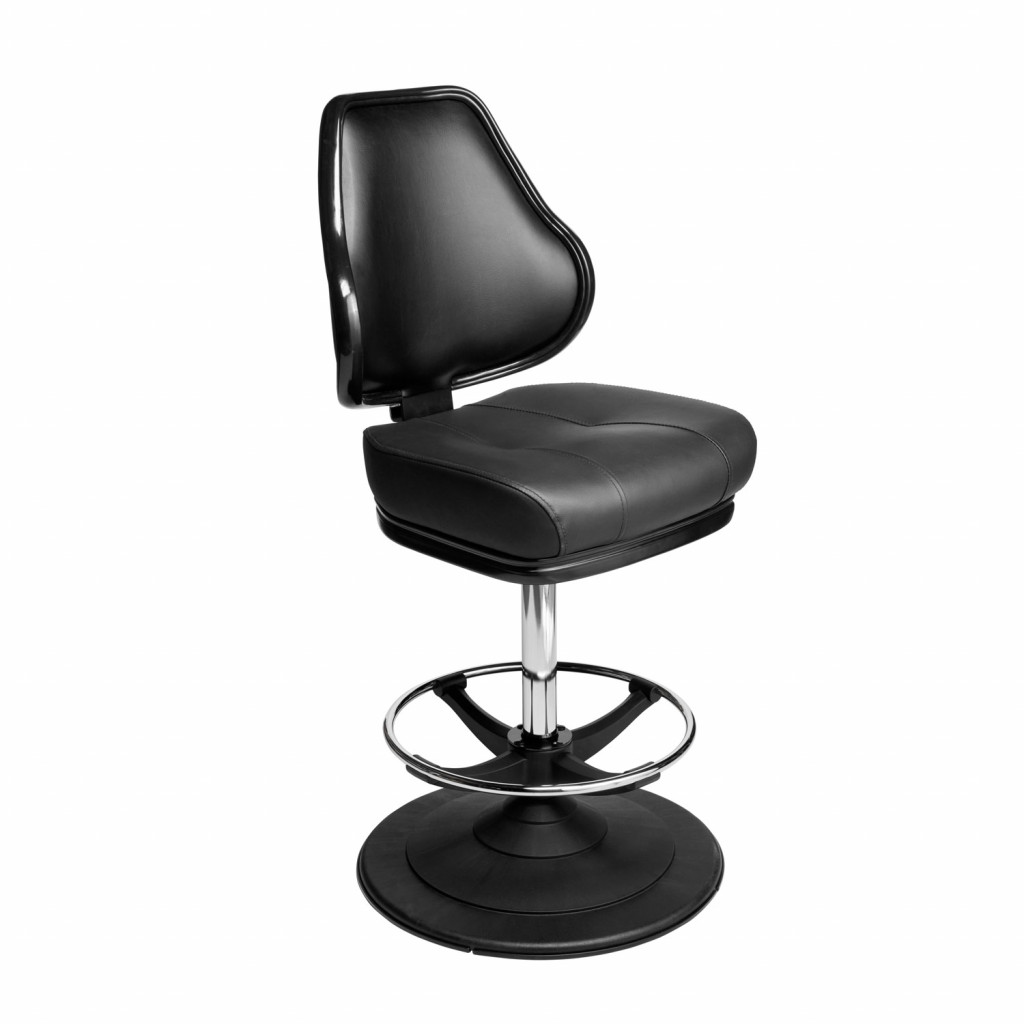 Orion casino chair. Casino seating for slot and table games. Ezi-glide disc base gaming stool with footring and swivel mechanism.