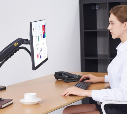 ergonomic office setup