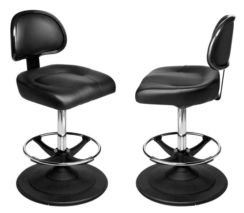 Galaxy Gaming Stool. Casino slot and table game chair with footring and swivel mechanism.