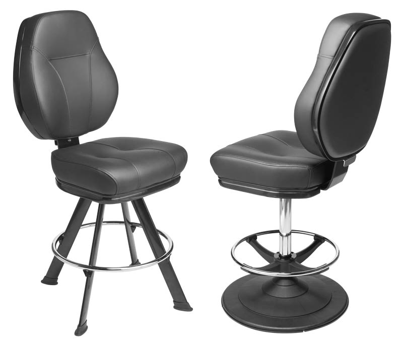 Gemini Gaming Stool. Casino slot and table game chair with footring and swivel mechanism.