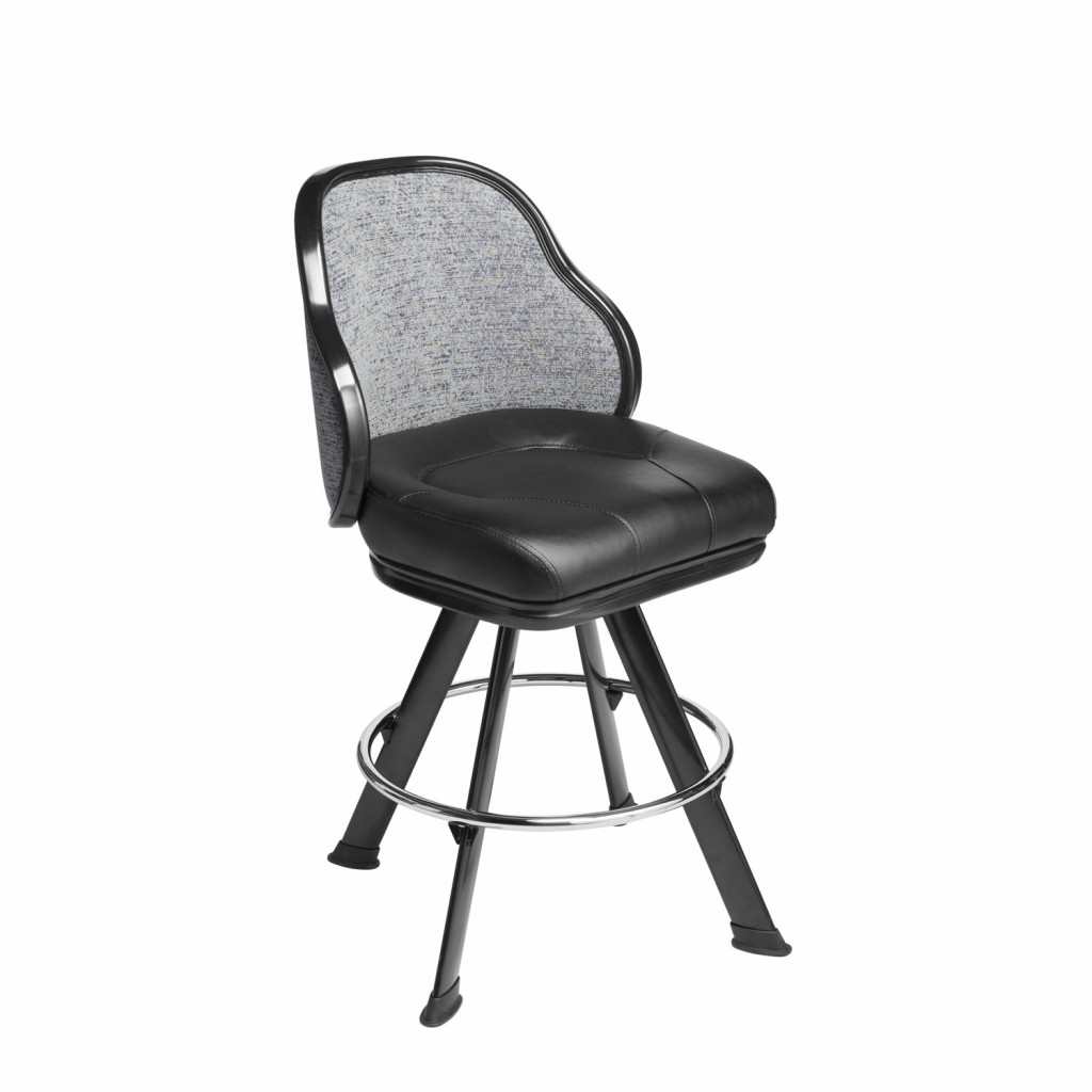 Jupiter casino chair and gaming stool with embroidery on the backrest