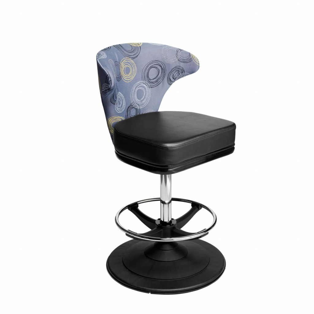 Mercury casino chair and gaming stool can be fitted with gas height adjustment