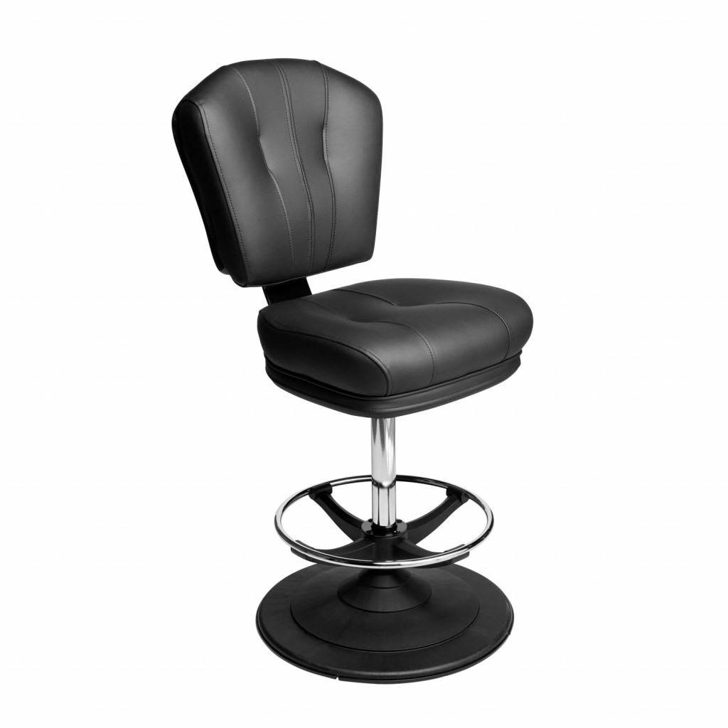 Monte carlo casino chair gaming stool with quick-release seat and ezi-glide disc base
