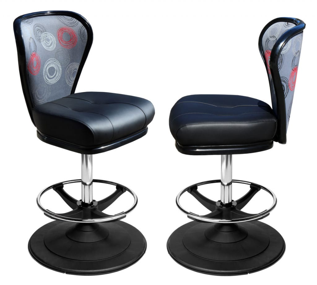 gaming stool and casino chair upholstery options