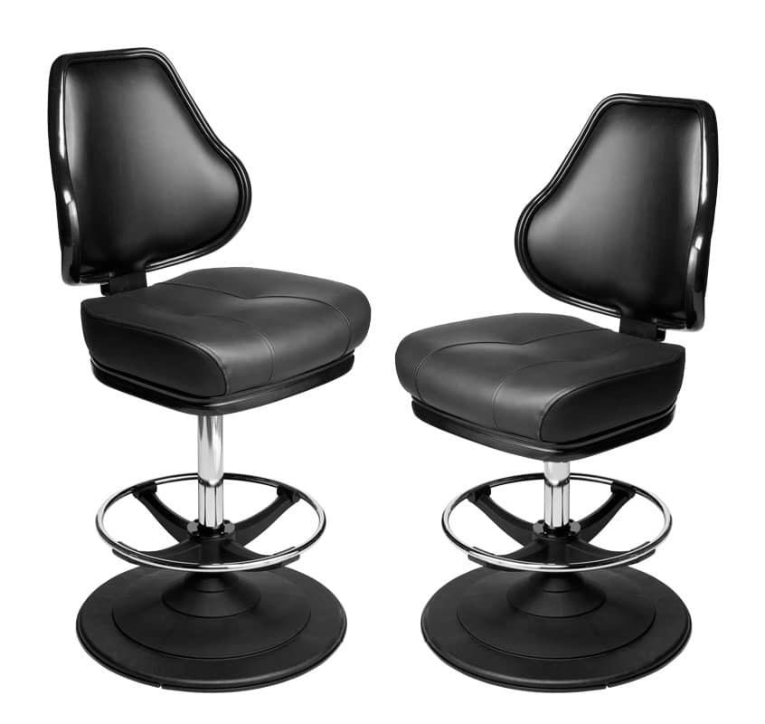 simple height conversion on karo pedestal base gaming stools